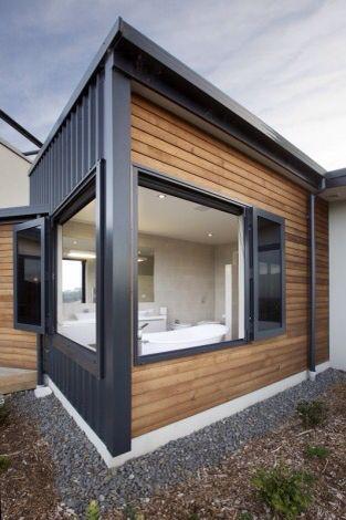 Cedar And Iron Cladding Facade House House Cladding Exterior Cladding