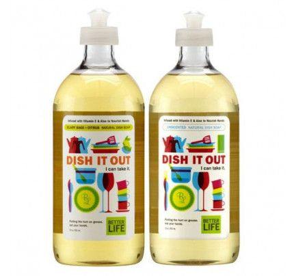 Better Life Dish It Out Natural Liquid Dish Soap Unscented 22 oz.