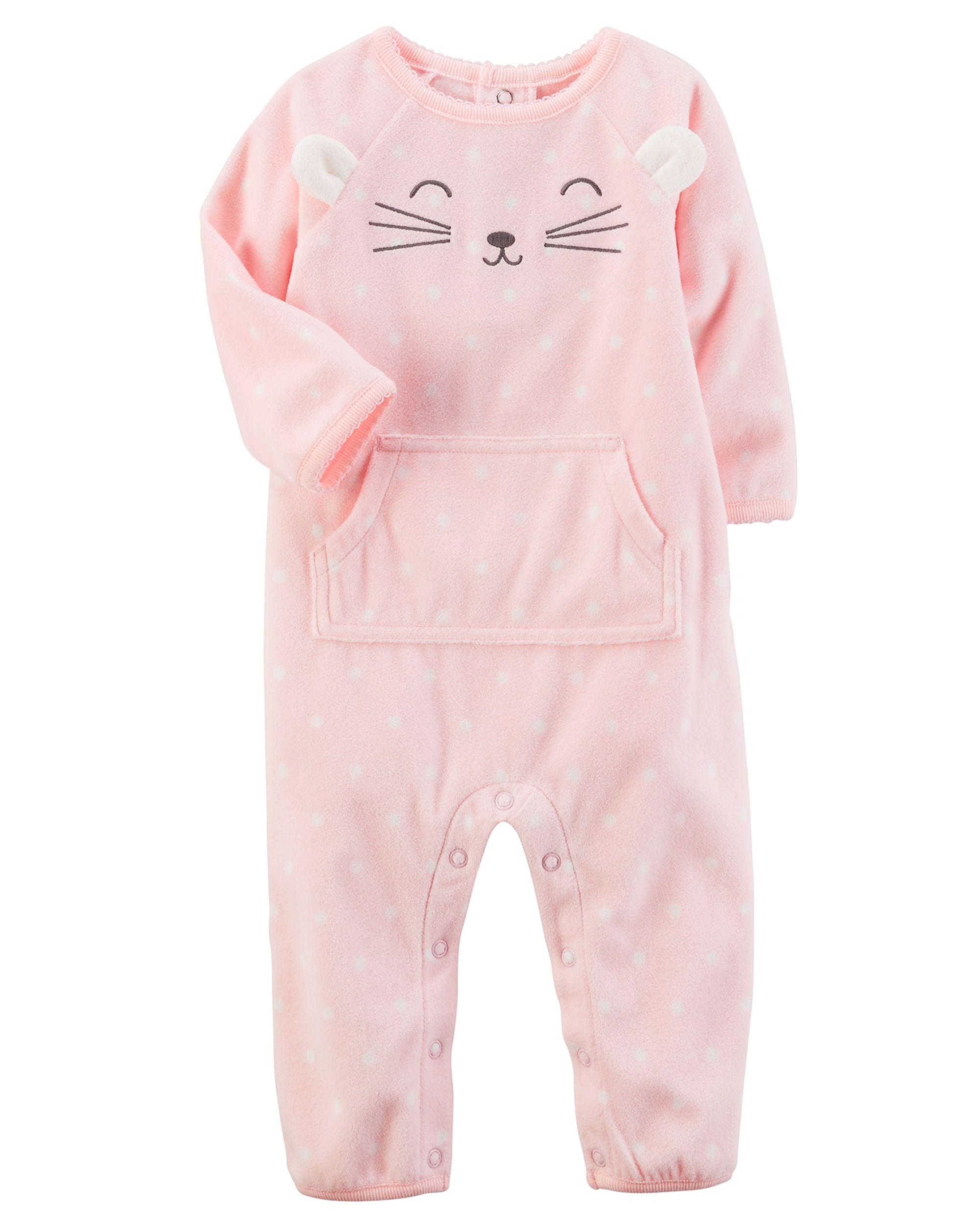 f71f6e62d Baby Girl Fleece Character Jumpsuit