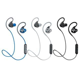 Epic Bluetooth Earbuds available in Blue/Gray, White/Gray