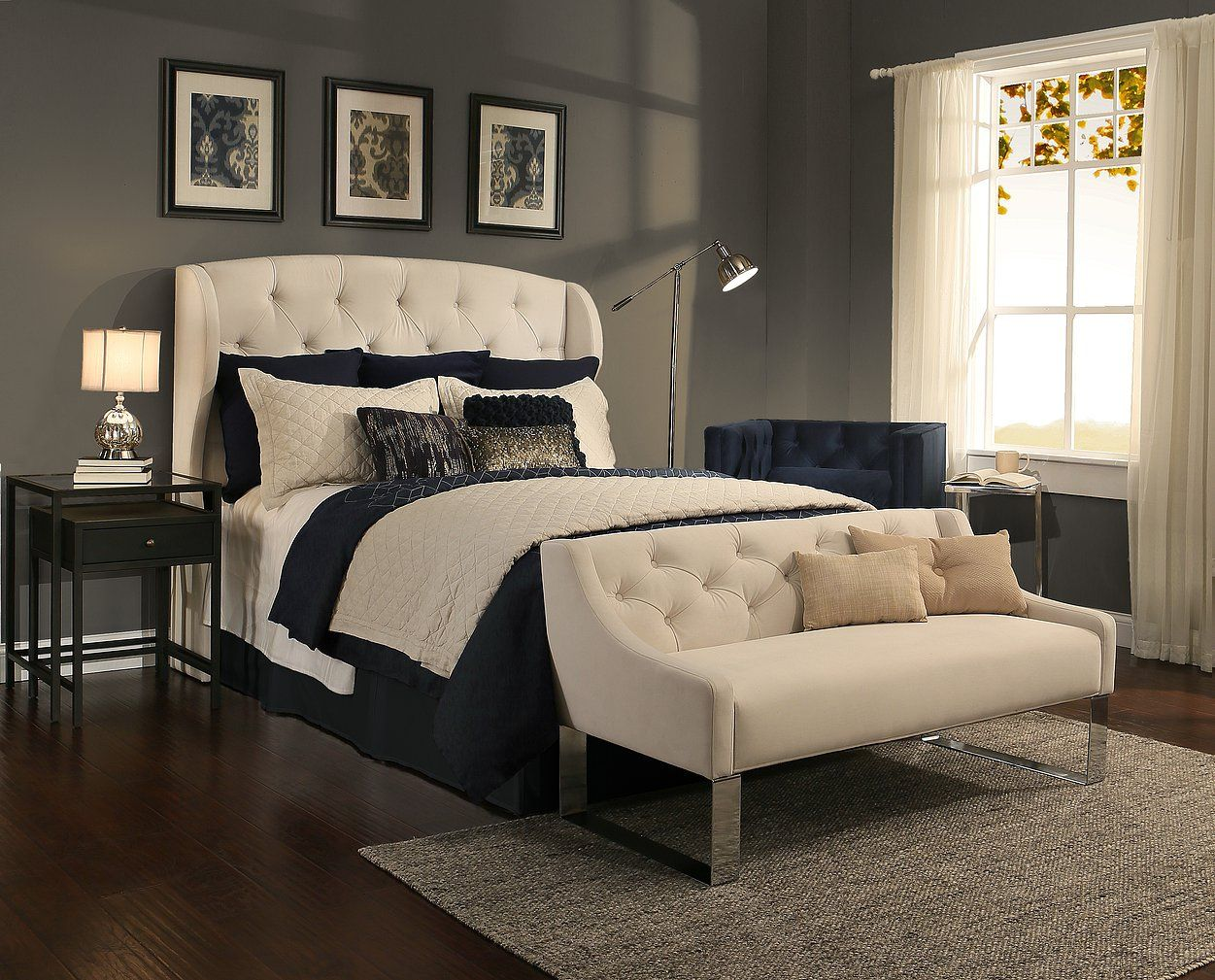 Beautiful Tufted Headboards With Matching Benches Bedroom Sets
