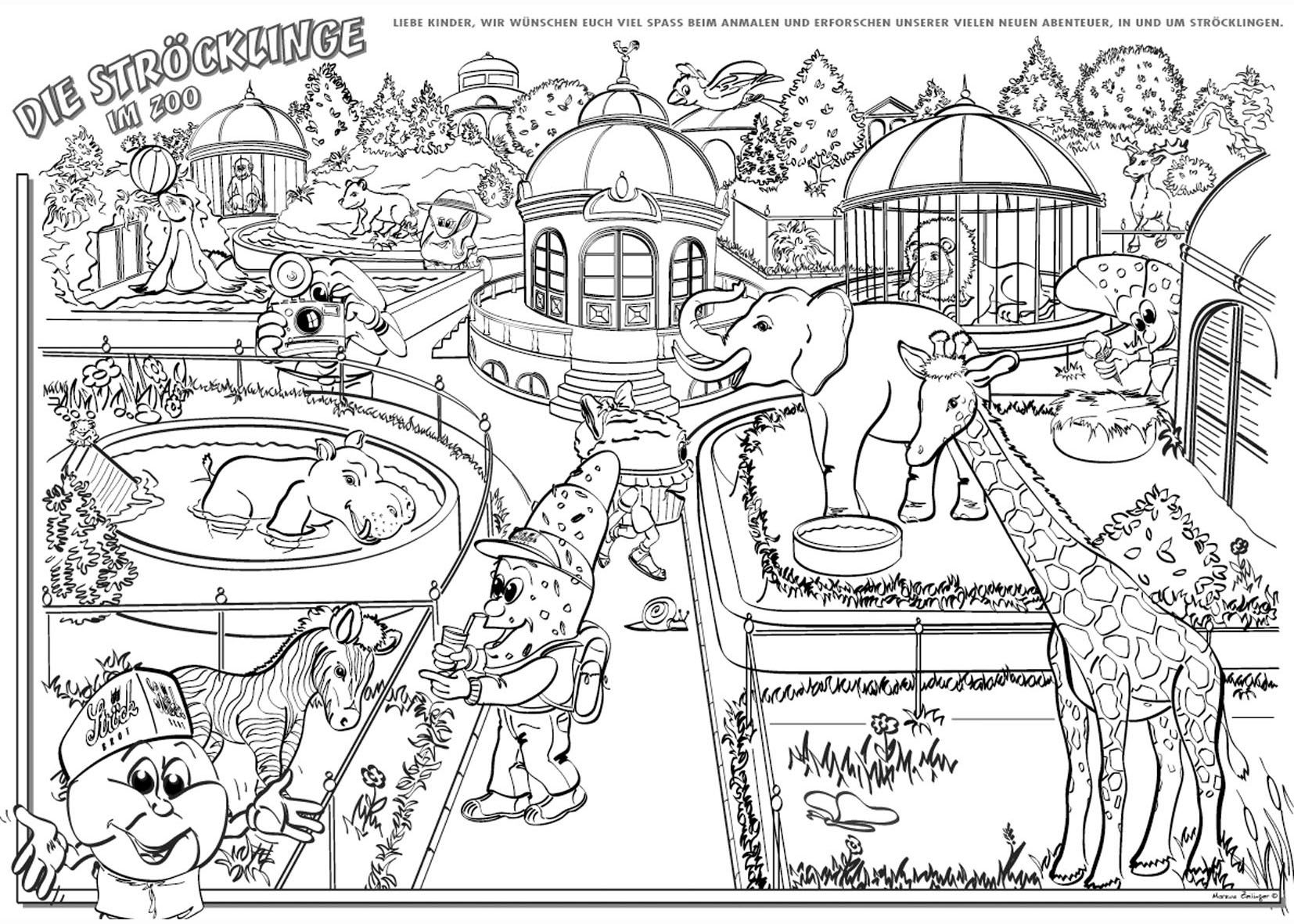 Zoo.jpg (12×12)  Malvorlagen, Ausmalbilder, Ausmalbilder tiere