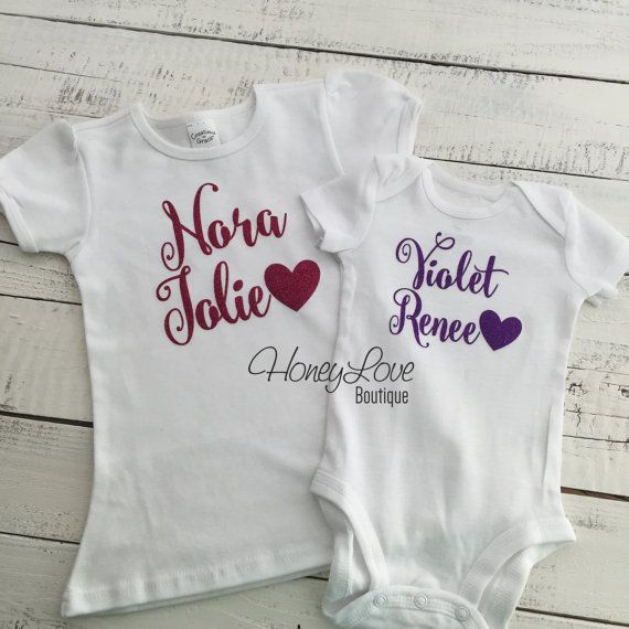 CHOOSE COLOR Personalized NAME Custom Personalization shirt bodysuit, glitter sparkle sparkly sparkling - Newborn infant toddler baby girl on Etsy