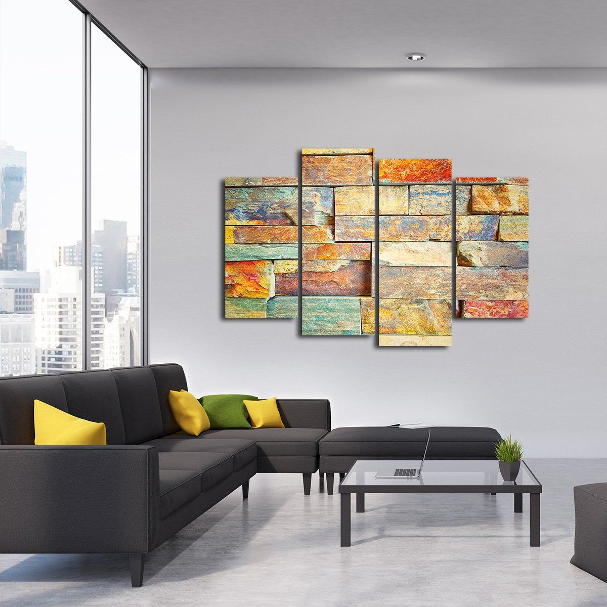 Colorful wall multi panel canvas wall art canvas wall