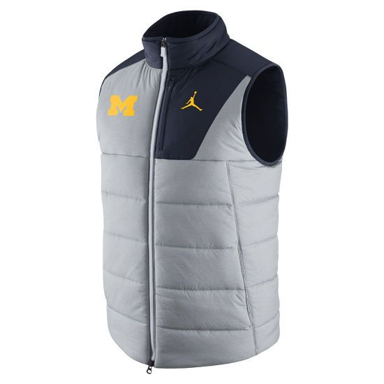 88a6c359aa9 ... NEW Jordan Men s Michigan Wolverines Grey Blue Football Player Vest; Jordan  Nike ...