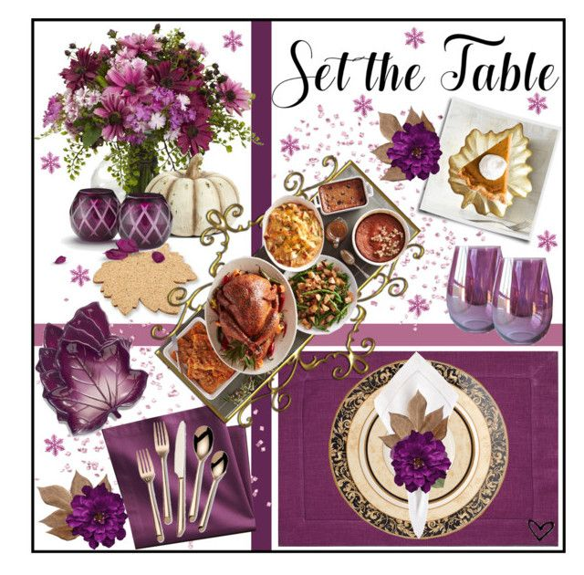 """""""~Set the Table~"""" by justwanderingon ❤ liked on Polyvore featuring interior, interiors, interior design, home, home decor, interior decorating, Kate Aspen, Sferra, Bliss Studio and Wedgwood"""