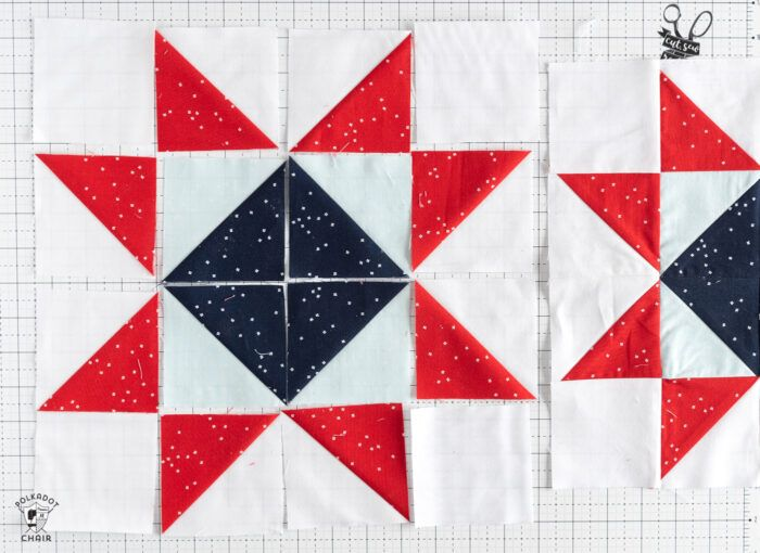 Under The Stars Quilt Block Pattern Just For Fun Quilt Along The Polka Dot Chair Star Quilt Blocks American Flag Quilt Star Quilt Patterns
