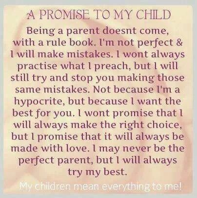 I May Never Be The Perfect Parent But I Will Always Try My Best