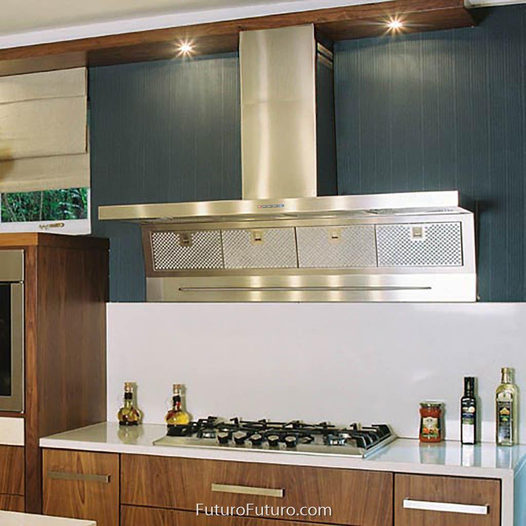 48 Magnus Wall Range Hood The Magnus Series Of Wall Mount Range Hoods By Futuro Futuro Is A High Performance Kitc Kitchen Ventilation Range Hood Kitchen Fan