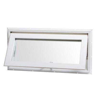Tafco Windows 32 In X 16 In Awning Vinyl Window With Screen White Va3216 Window Awnings Transom Windows Vinyl Frames