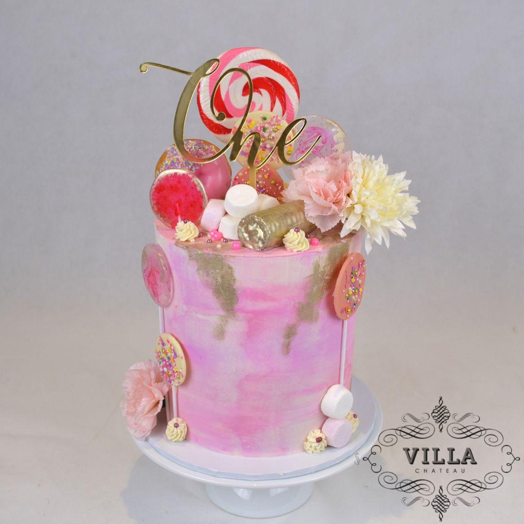 Lollipop & candy 1st Birthday cake   Cake, Cake designs ...