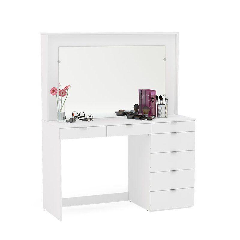 Spurlin Dressing Vanity With Mirror In 2020 Vanity Modern Vanity Table White Dressing Tables