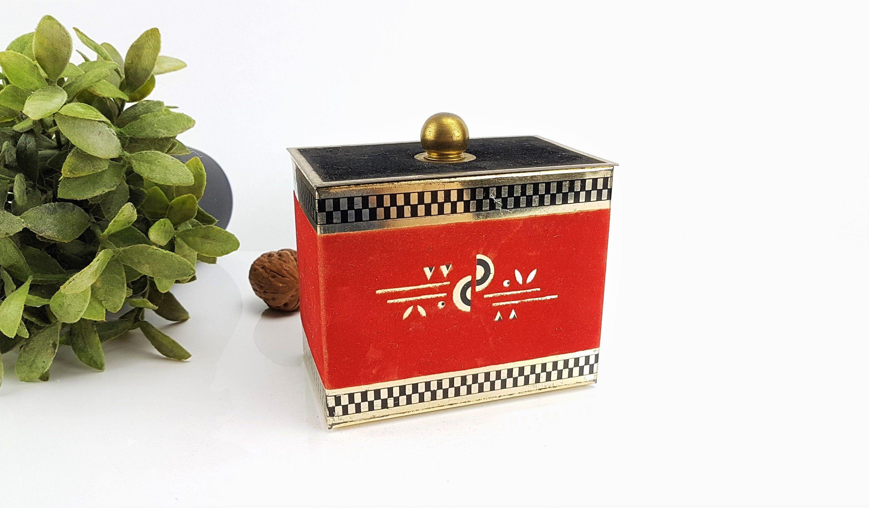 Blechdose Kaffeedose Alte Dose Von Strater Kaffee Mit Dem Mokka Mannchen Art Deco Vintage Shabby Blechbox Mid Century In 2020 Coffee Tin Tin Can Kaffee