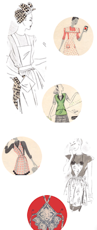 101 FREE apron patterns! great holiday / christmas gift ideas. super cute, kitschy, retro and shabby chic apron designs