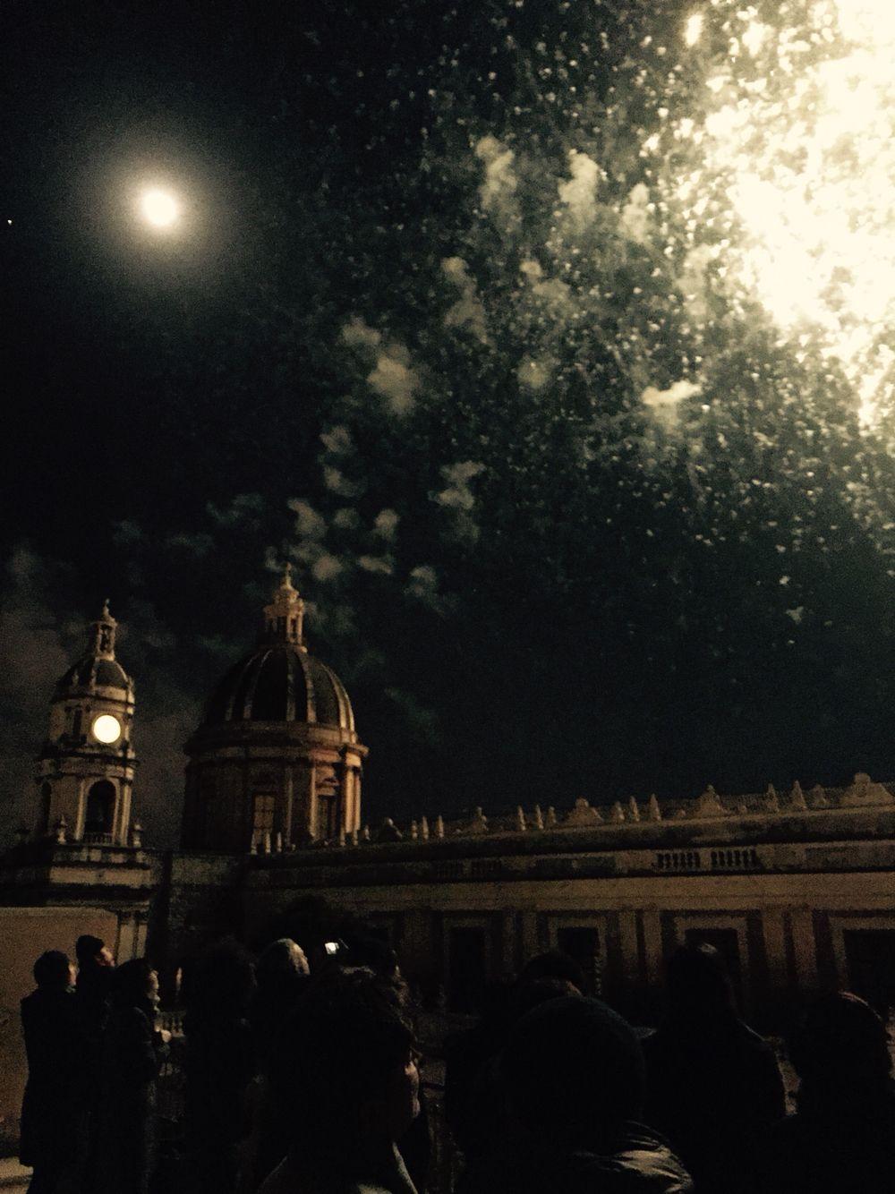 I fuochi del tre Piazza Duomo Catania