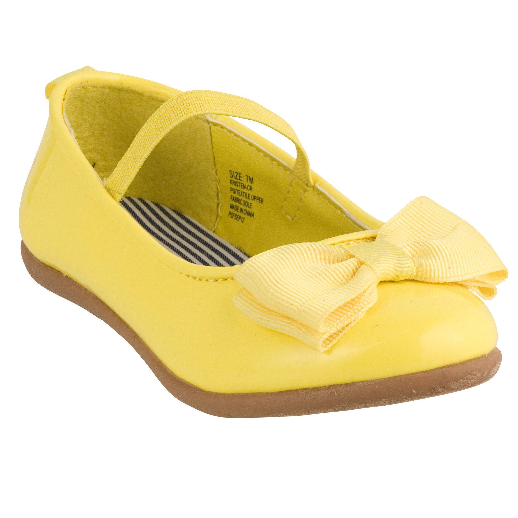 Bow Ballet Flats   Baby Girl Yellow