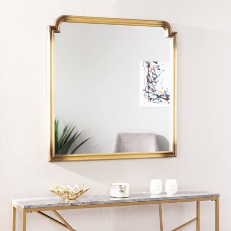 Loaka Art Deco Decorative Wall Mirror Transitional Gold In