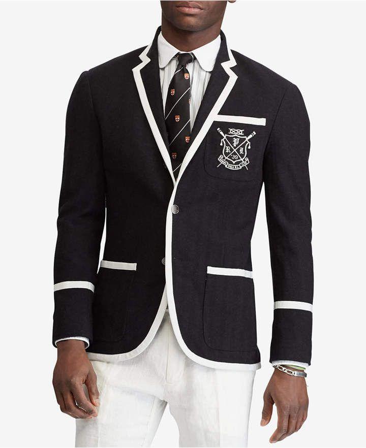 Polo Ralph Lauren Men S Knit Blazer Ralph Lauren Suits Polo Ralph Lauren Mens Mens Fashion Inspiration