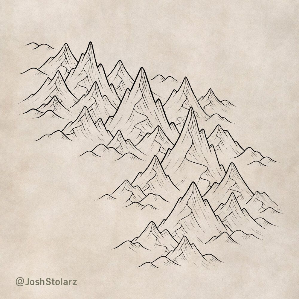 How to Draw Mountains Mountain drawing, Fantasy map
