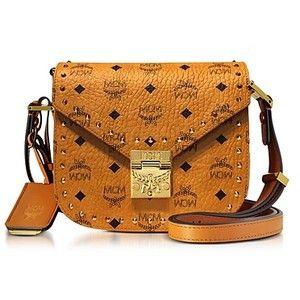 Mcm Designer mcm designer handbags cognac studded outline visetos small