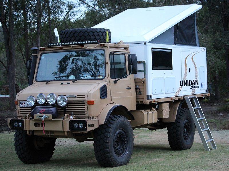 Unimog Slide On Camper One Of A Kind Rv Slide In
