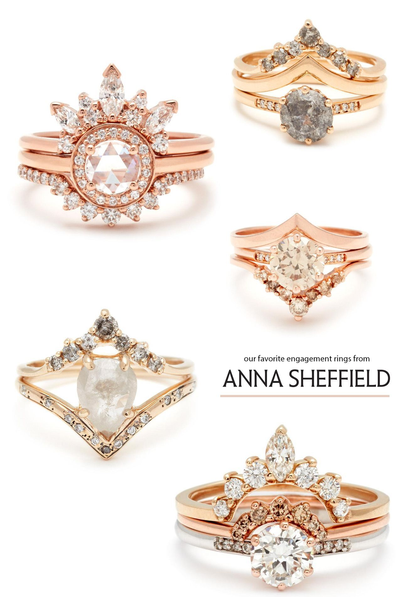 Favorite Engagement Rings From Anna Sheffield Los Angeles Culver