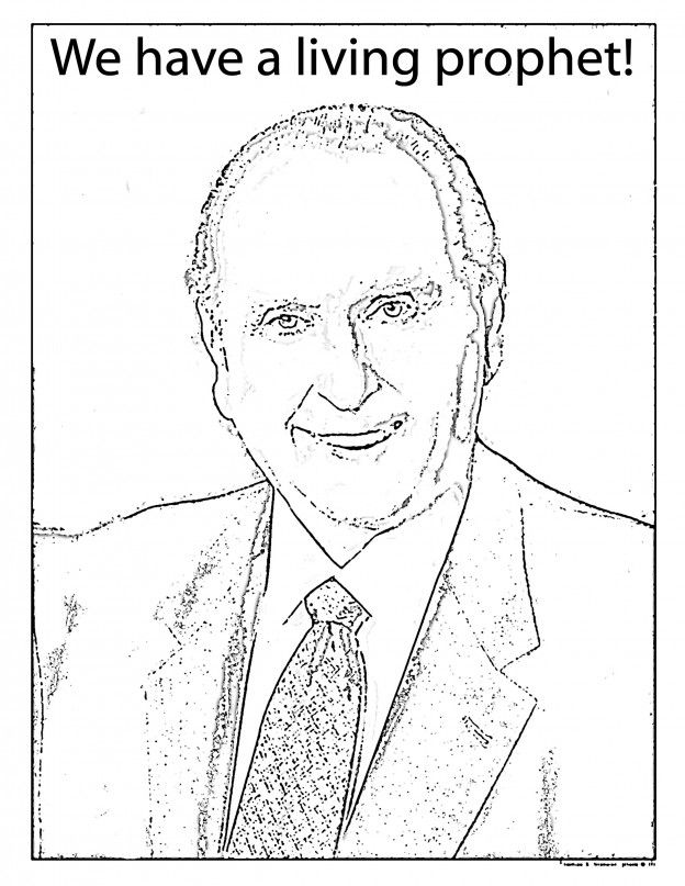 Mormon Share } President Monson Coloring Sheet | Pinterest ...