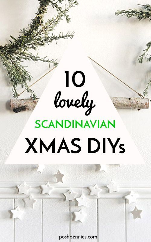 I can't get over how GORGEOUS and EASY these Christmas DIYs are! Literally doable in just a short afternoon. The Scandinavian vibe of these ideas is just great - pared back, beautiful and simple. Find a decor project you can complete today! | #ChristmasDecor #HomeDecor #DIYHomeDecor