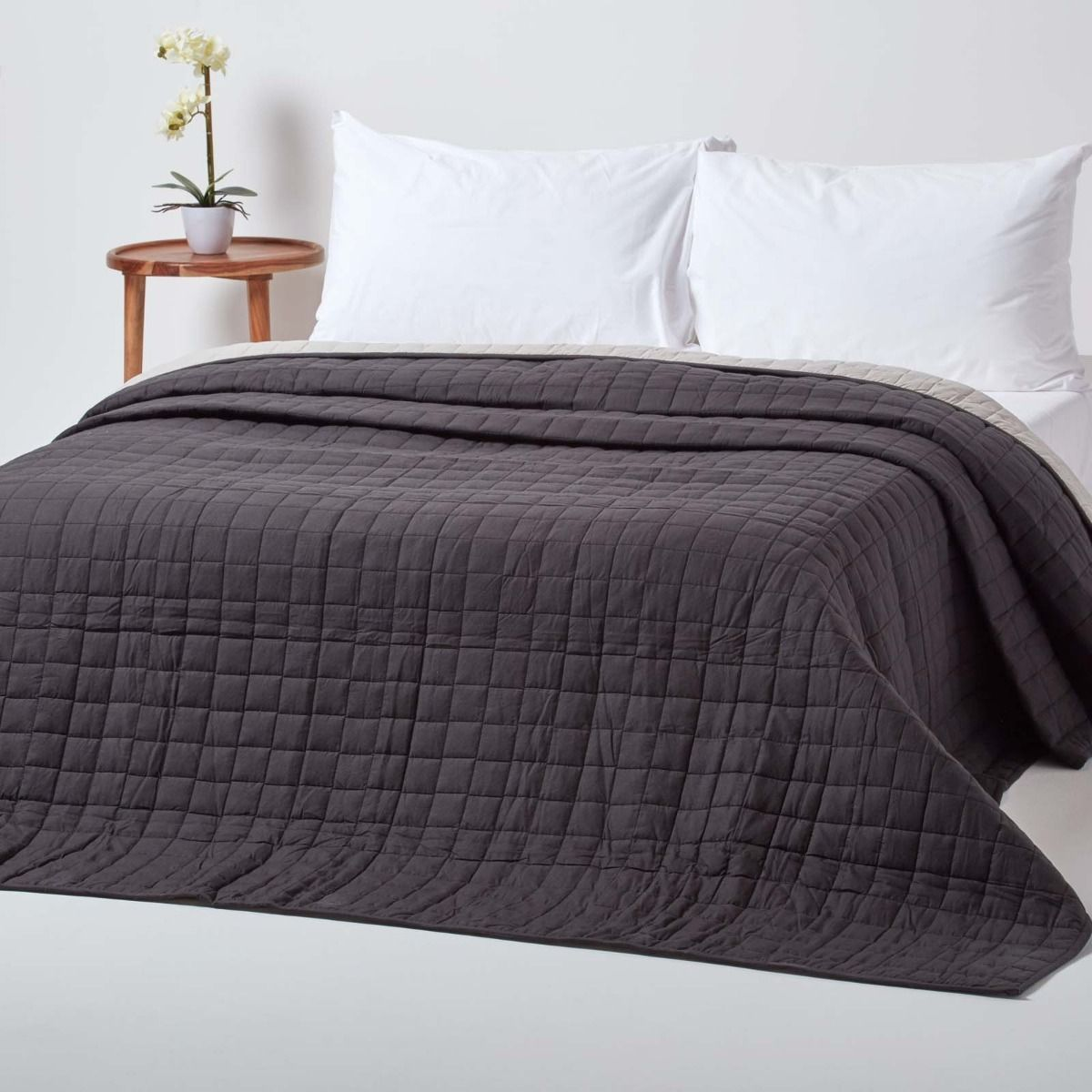 Cotton Quilted Reversible Bedspread
