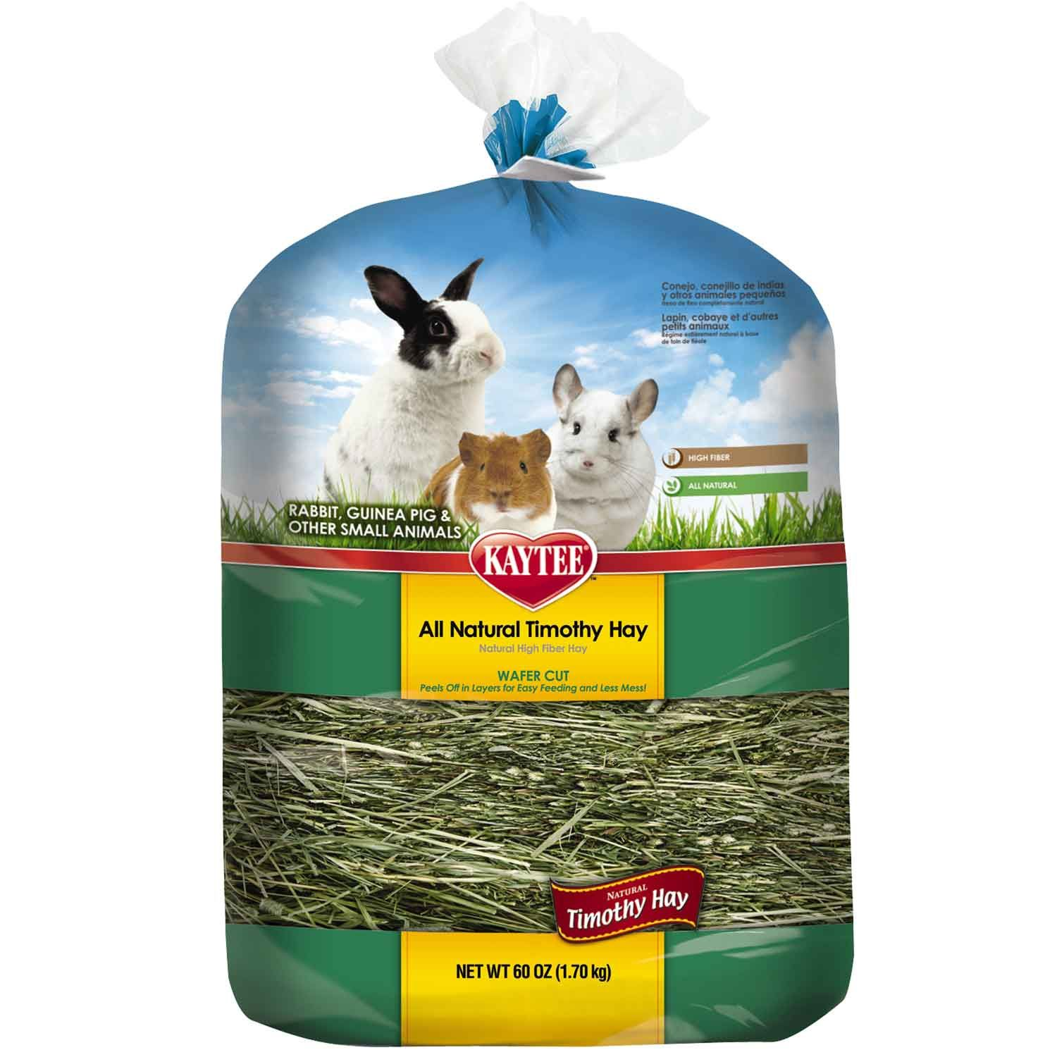 Nutritious sun-cured timothy hay cut straight from the bale and peels off in layers which makes it easy to feed to your small animal. Delicious fiber treat that is lower in calcium.