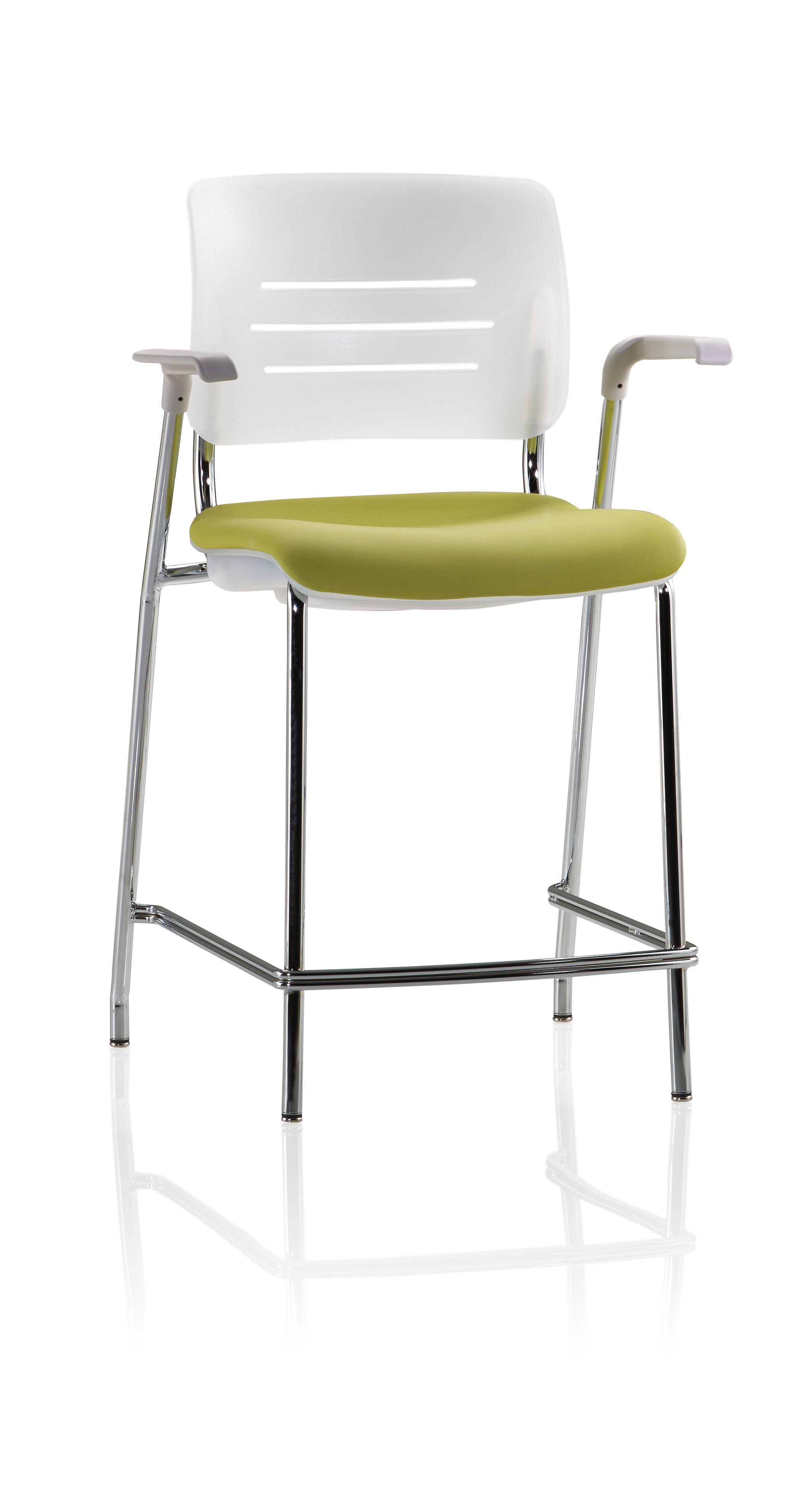 Grazie Cafe Stool with Upholstered Seat & Arms