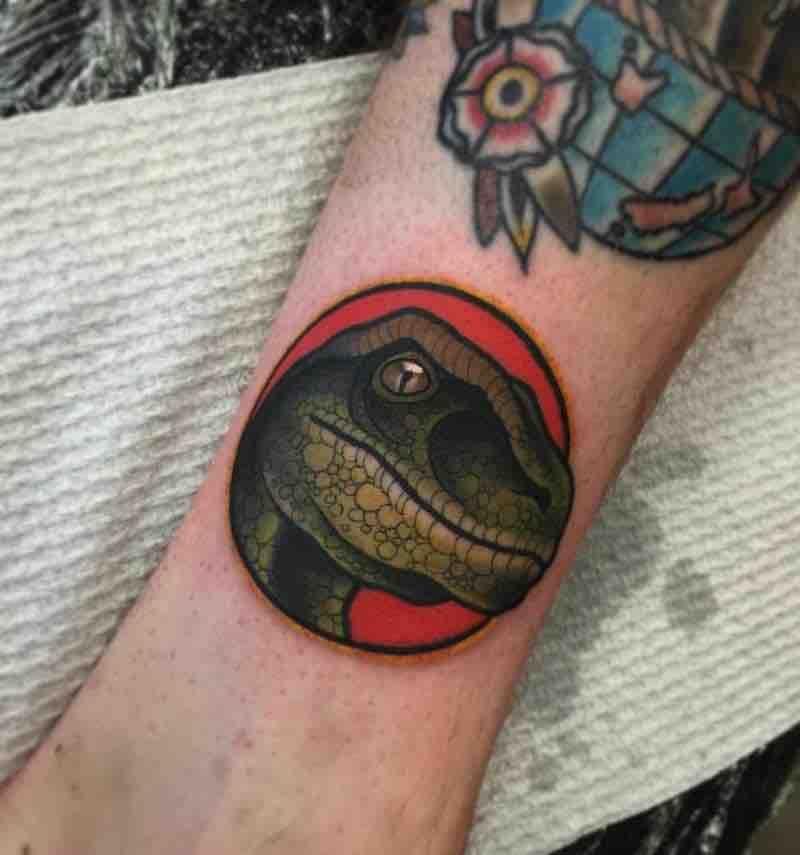 22 Outstanding Dinosaur Tattoos #dinosaurtattoos Dinosaur Tattoo by Heath Clifford #dinosaurtattoos