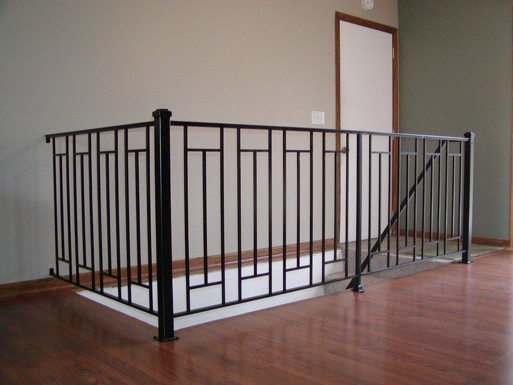 Anchor Iron Company Indoor Railing Iron Stair Railing Metal   Iron Stair Railing Indoor   Interior Wrought   Wood   Cast Iron Balusters   Rod Iron   Railing Kits