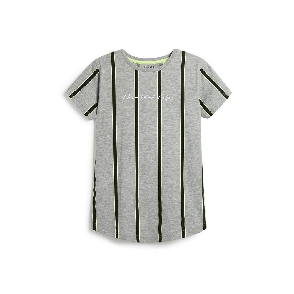 Older Boy Neon Stripe T Shirt