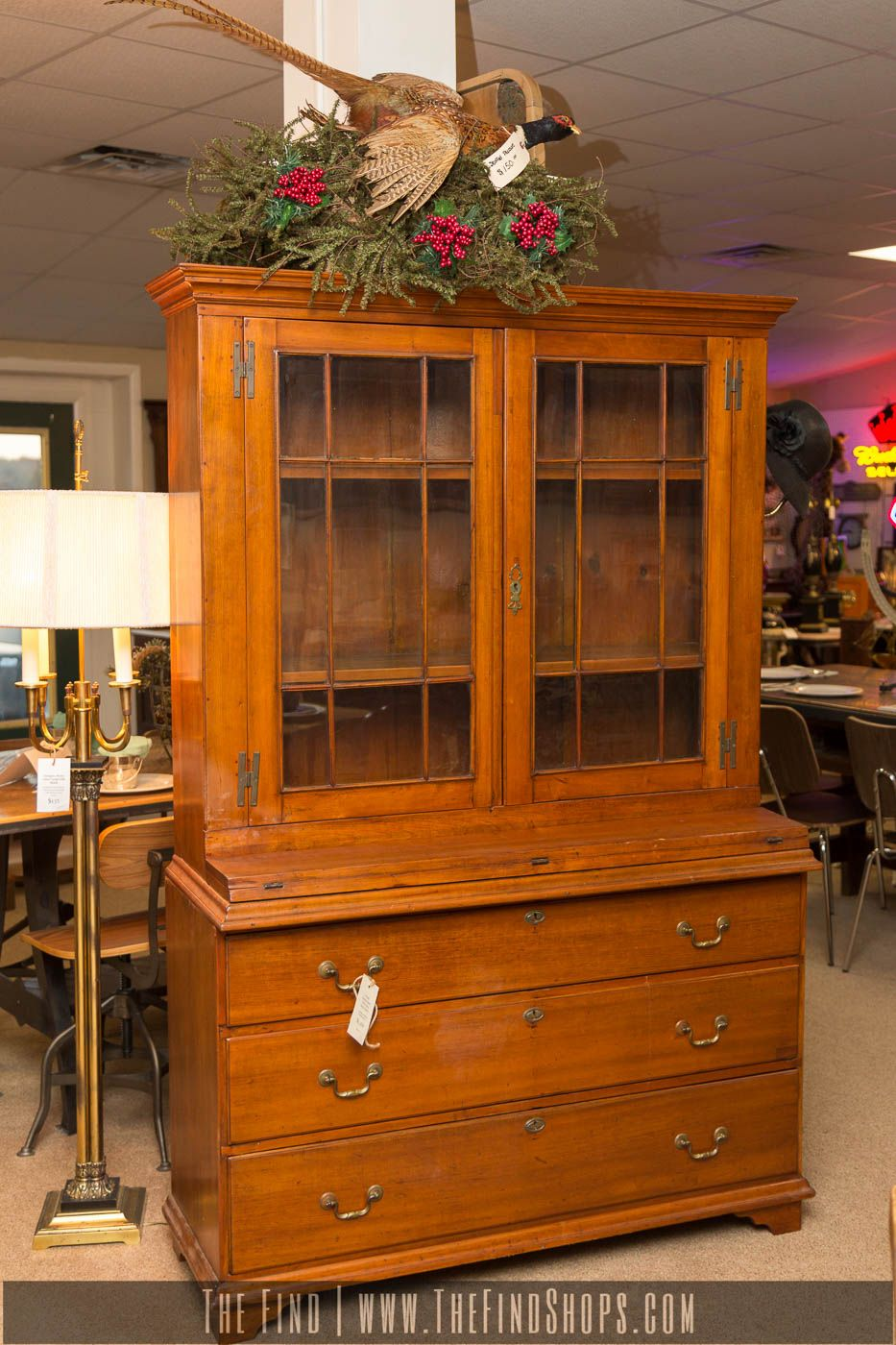 Antique Finely Crafted Early Step Back Hutch