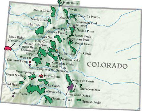 Remote 14ers. | Mountains | Colorado Mountains, Area map, Colorado ...
