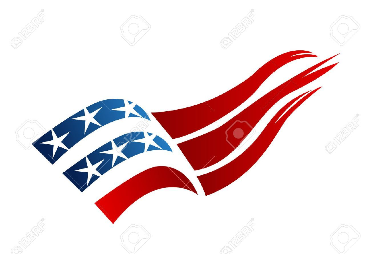 Usa Flag Logo Vector Illustration Spon Flag Usa Logo Illustration Vector Creative Poster Design Creative Posters Lettering Quotes