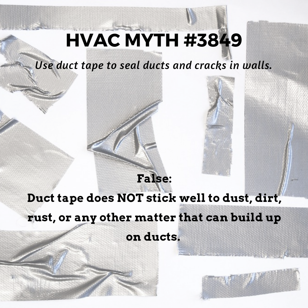 Don't use duct tape to seal cracks it will only come