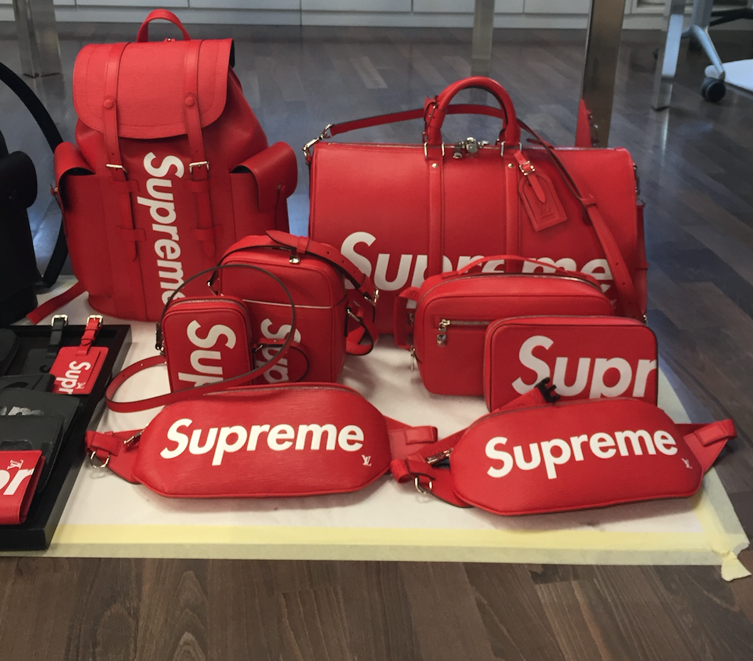5cead2f52212 Supreme and French luxury goods label Louis Vuitton unveiled a new  collection of bags