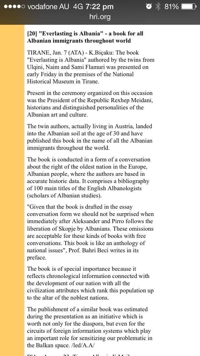 everlasting is albania  e perjetshme eshte shqiperia naim dhe sami flamuri