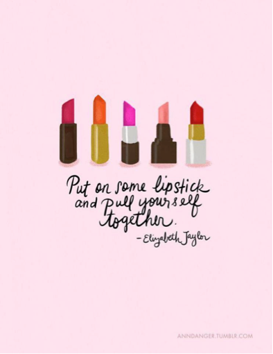 For all those times you're feeling down  #girly #lipstick