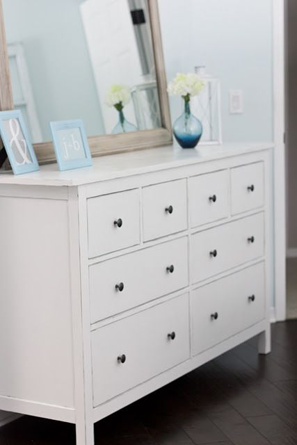 How To Paint The Brown Hemnes Dresser White And Painted Decorated Vases