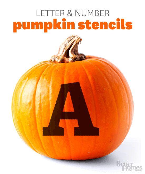 Monogrammed Pumpkin Stencil Pumpkin Pumpkin Stencil Pumpkin Monogram