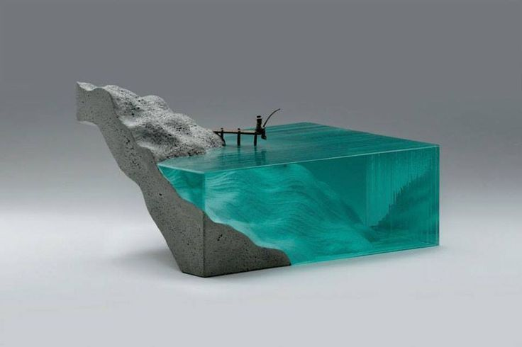 Ben young combines glass and concrete into surprising works of art glass wonderland pinterest concrete glass and galleries