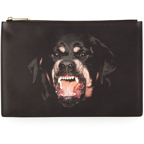 e44b6a1016 Givenchy Rottweiler Medium Flat Pouch ( 475) ❤ liked on Polyvore featuring  beauty products
