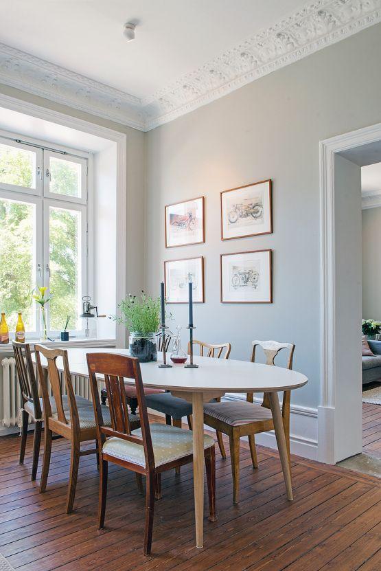 Interiores n rdicos interior mezcla de cl sico y nuevo for Decoracion salon clasico