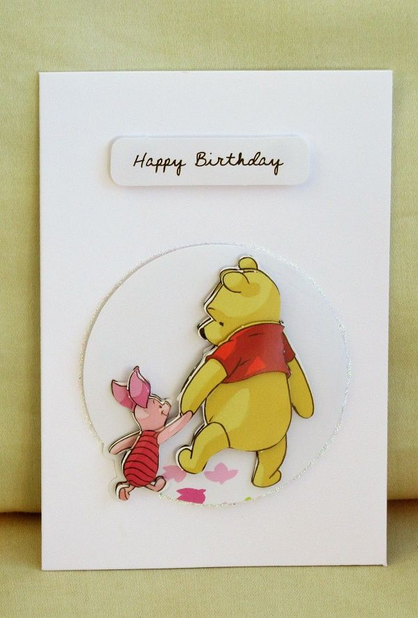 Winnie The Pooh Birthday Card We Love Winnie And Piglet And What Better For A Birthday Card Than The Birthday Card Drawing Disney Birthday Card Disney Cards