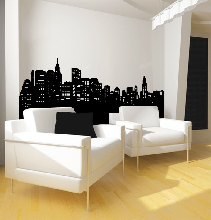 new york city decal new york city wall decals stickers pinterest. Black Bedroom Furniture Sets. Home Design Ideas