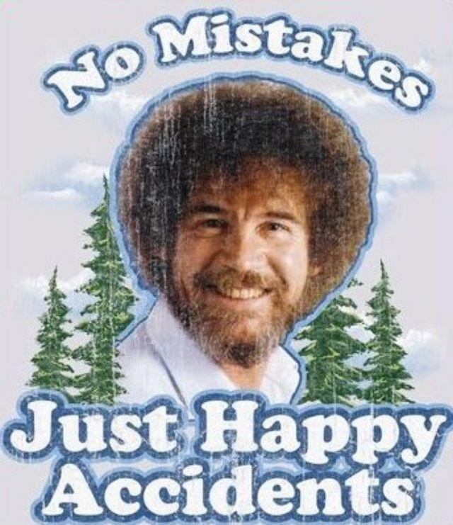 Bob Ross! Happy trees and birds. Oh wait, let's paint a