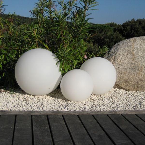 déco jardin boule lumineuse solaire Jardin Zen Pinterest - cube lumineux solaire exterieur